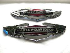 HARLEY DAVIDSON Emblemas de tanque Señal DEPÓSITO CROMO 14100629 14100630