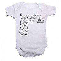 Winnie The Pooh Beautiful Quotation Baby Vest Babygrow Bodysuit Boys Girls Gift