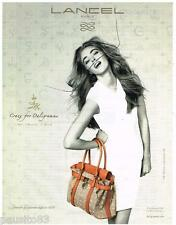 PUBLICITE ADVERTISING 105  2011   LANCEL  collection sac DALIGRAMME