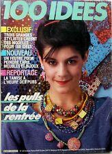 100 IDEES (Octobre 1984 => voir scans) : LES PULLS DE LA RENTREE_LES FARDS