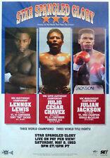 Vintage Julio Cesar Chavez vs Terrence Alli &Lewis v Tucker Boxing Fight Poster