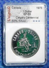 CANADA  1975  **SPECIMEN  SILVER DOLLAR**  In slab holder #1