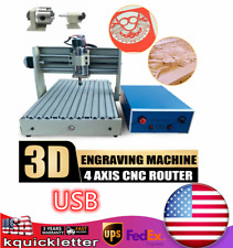 New Listing4 Axis Usb Cnc 3040 Router Engraver Milling Engraving Machine Desktop Engraving