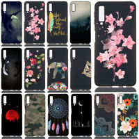 For Samsung Galaxy A7 A6 J4 J6 2018 Soft Silicone Clear Painted TPU Case Cover