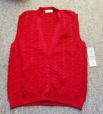 Vtg Womens Pendleton Red Knit Virgin Wool Sweater Vest Boho Nwt Tartan Usa L?