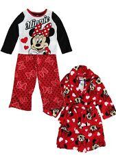 Disney LITTLE GIRLS Red Black White Minnie Mouse 3pc Pajama Size 8