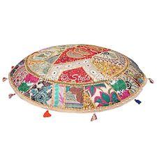 Indian Home Decor Floor Cushion Vintage Patchwork Cotton Ottoman pouf Cover