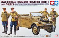 Tamiya 25153 1/35 Model Kit WWII Russian Commanders w/Type 82 Staff Car Set ICM
