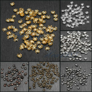 2500PCS Stainless Steel Bead Caps Flower More-Petal End Cap Bead Cover Jewelry