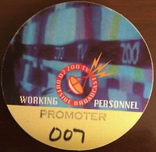 U2 - Zoo TV Tour - satin backstage pass working personnel promoter #007 yellow