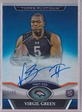 2011 Topps Platinum Blue Refractor Virgil Green On Card Auto Rc Serial # to 99