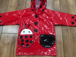 Girls Kidorable Rain Coat Age 2 Years Euro 80-86 Zip Pockets Worn Once Vgc Water