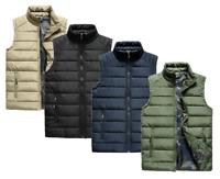Men Gillet Paded Quilted Jacket Bodywarmer Sleeveless Coat Gilet Puffer Military