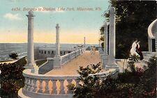 Milwaukee Wisconsin Lago Parque Entrance A Estadio Tarjeta Postal 1911
