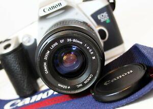 CANON EOS 500N 35mm autofocus SLR film Camera ZOOM EF 35-80mm f4-5.6 Lens WORKS