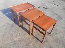 ee8da8dc9f8f Vintage 1960s Danish Modern Solid Teak Nesting Tables Hvidt   Orla Molgaard  Era