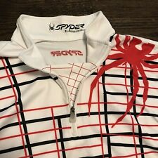 SPYDER Youth Kids XL 1/4 Zip Pullover Sweater Jacket Outerwear White Red Black