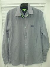 Hugo Boss Shirt Blue Check Slim Fit Mens size M / 39-40