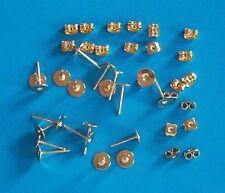 50 paia di GP 6 mm Pad Piatto Orecchino pali, incl PERGAMENE, i risultati per gioielli