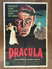 HORROR OF DRACULA (1958) Argentinean Stone Litho Poster Christopher Lee, Cushing