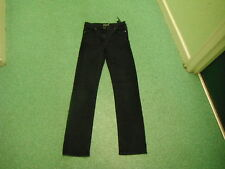 "Per Una Straight Leg Jeans Waist 28"" Leg 32"" Black Faded Ladies Jeans"