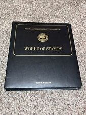 Beautiful Postal Commemorative Society World of Stamps Album w/ 16 Panels