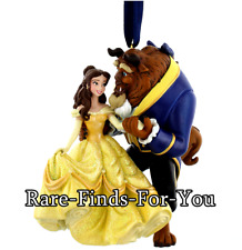 Disney Park Beauty and the Beast Princess Belle and Beast Christmas Ornament NEW