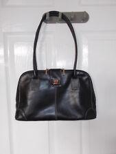 SUZY SMITH Black Leather Handbag 13 x 8 NEW