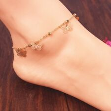 Fashion Butterfly Ankle Bracelet Women's Anklet Adjustable Foot Chain