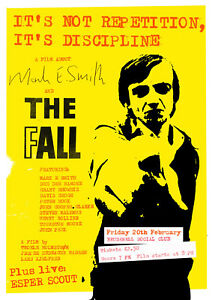 """Reproduction The Fall """"Film"""" Poster, Mark E Smith, Manchester, Indie"""