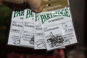 Fly tying Partridge Klinkhamer hooks O14