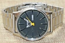 """Nixon The Sentry SS """"Never Be Late"""" Silver Tone Stainless Steel Watch Pre-owned"""