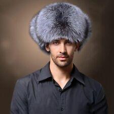 1Ushanka Men's Winter Raccoon Fur&Lamb Leather Russian Cossack Trapper Hats