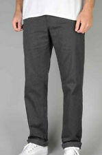 Huf Worldwide Skate Chino Pants Trousers Fulton Slim Charcoal Heather in 28