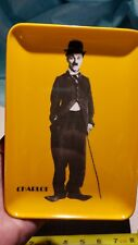Charlie Chaplain 70s plastic gold tray Product Centre Charlot