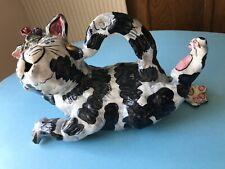 New listing Blue Sky Heather Goldminic large whimsical Diva Cat figurine