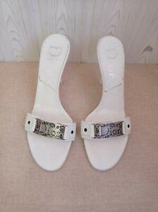 Dior sandals women shoes heels mule vintage