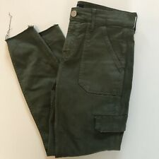 River Island 12 R Olive Green Mid Rise Skinny Combat Style Jeans Casual RRP £45