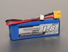 New Turigy 1800mAh 3S 20C 30C Lipo Battery Pack XT60 XT-60 Connector Plane Heli