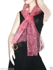 Etole/foulard/chale en organza, idéal avec robe de soirée ROSE