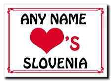Love Heart Slovenia Personalised Jumbo Magnet