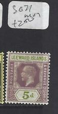 LEEWARD ISLANDS (P1610B)  KGV   5D  SG 71   MOG