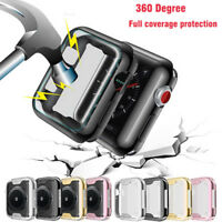 Screen Protector Case for Apple Watch 3 2 Soft TPU Full Cover for iWatch 4 40/44