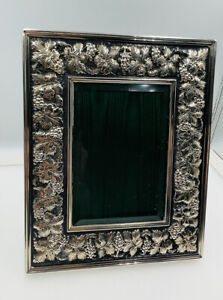 """Buccellati Italy Vintage Sterling Silver Grapevine Leaf Picture Frame 6 1/2""""x8"""""""