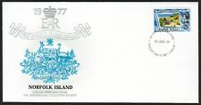 NORFOLK ISLAND FDC - QUEEN'S SILVER JUBILEE - MONARCH SIZE - CACHETED - NICE!
