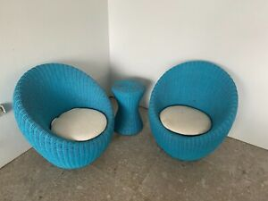Unique 3Pc Indoor Wicker Setting 2 chairs and 1 table RRP $600