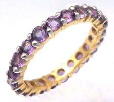 Anelli di lusso con gemme, ametista, misura anello 17