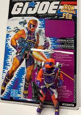 GI Joe Complete Annihilator V1 1989 Full Canadian Variant File Card ARAH Cobra