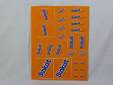 Vintage Sheet of Assorted Sunkist Fountain Product Stickers - NOS