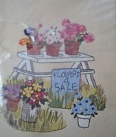 Flowers 4 Sale Crewel Vogart Crafts Creative Stitchery Kit 2517 Vintage 1977
